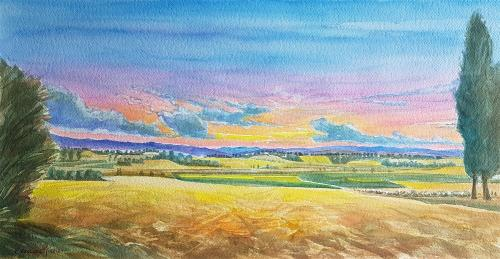 La poesia del tramonto in Toscana