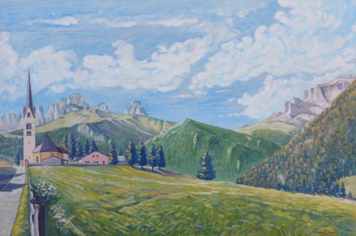 Veduta dalla Val di Fassa - Alba di Canazei